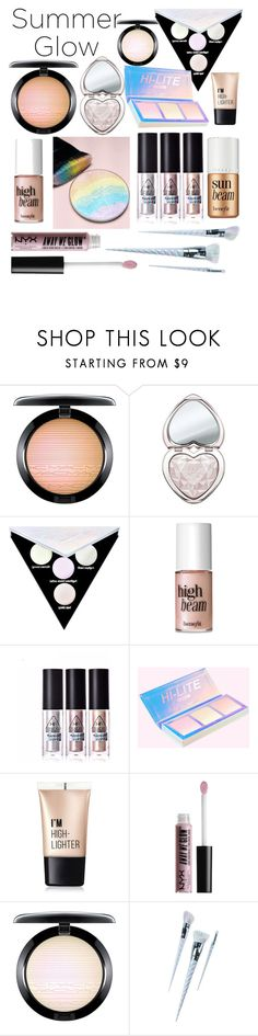 """Dat glow though"" by whodatgirl ❤ liked on Polyvore featuring beauty, MAC Cosmetics, Too Faced Cosmetics, Kat Von D, Benefit, Charlotte Russe, NYX and Unicorn Lashes"