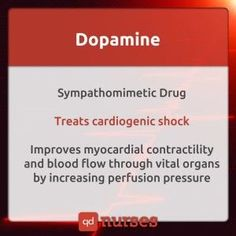 Dopamine is an adrenergic and dopaminergic cardiac stimulant that is usually prescribed for heart failure.  Side effects include abnormal heart rhythm, fast heart rate, chest pain, palpitations, slow heart rate, high blood pressure, narrowing of the blood vessels, difficulty in breathing, nausea, vomiting, elevated BUN (blood urea nitrogen), headache, anxiety, piloerection (erection of the hair of the skin), and gangrene of the extremities.