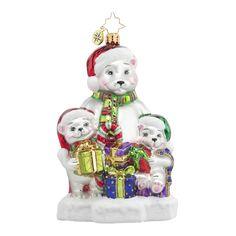 "Christopher Radko Polar Bear Ornament - ""Polar Exchange"""