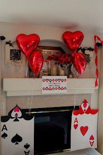 Alice in Wonderland party idea- heart balloons Mad Hatter Party, Mad Hatter Tea, Mad Hatters, Roulette Tattoo, Alice Tea Party, Alice In Wonderland Tea Party, First Birthday Parties, 3rd Birthday, Birthday Ideas