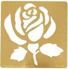 Kuvahaun tulos haulle rose cut out stencil Rose Stencil, Leaf Stencil, Stencil Diy, Stencil Painting, Stenciling, Free Stencils, Stencil Templates, Stencil Patterns, Stencil Designs