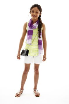 total girl striped tank top, scarf, and shorts