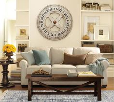 Buchanan Upholstered Sofa | Pottery Barn--This is the style sofa I want for our formal living room.