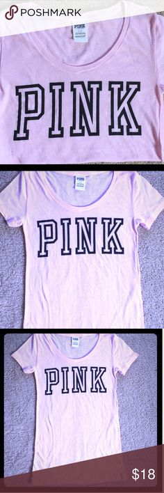 ✨VS PINK NWOT Pastel Pink Cotton Short Sleeves✨ ✨NWOT✨This Victoria's Secret Tee is Soo Cute and Comfy Scooped Neckline Makes for a more Sexy and Comfortable Feel Tried On, Never Worn. ✨Perfect Condition! ✨ Victoria's Secret Tops Tees - Short Sleeve