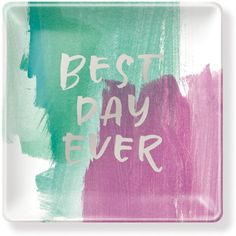 Fringe Best Day Ever Small Tray ($15) ❤ liked on Polyvore featuring home, kitchen & dining and serveware