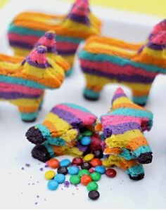 Piñata cookie stuffed with M's