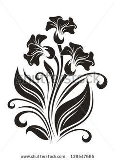 Flower silhouette Fotos en stock, Flower silhouette Fotografía en stock, Flower silhouette Imágenes de stock : Shutterstock.com