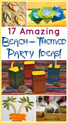 17 Beach Theme Party Ideas that both kids and adults will like. They all work indoors or outdoors, too!
