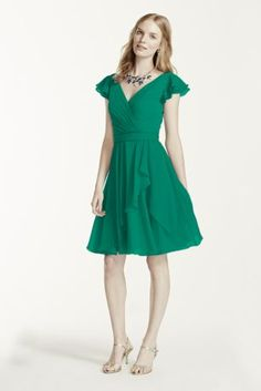 Emerald green with a deep orange sash.
