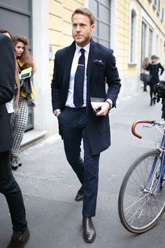 A perfect outfit as usual from this gentleman.