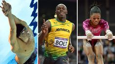 Michael Phelps, Usain Bolt and Gabby Douglas 2012 Olympic Gold Medalists and Record Breakers