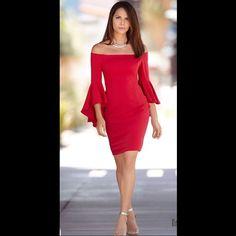 Off The Shoulder, Bell Sleeve Dress