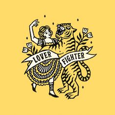 Joshua Noom - Closer&Closer Artists Tiger Illustration, Graphic Design Illustration, Illustration Styles, Badge Design, Mellow Yellow, New Artists, Graphic Design Inspiration, Screen Printing, Typography