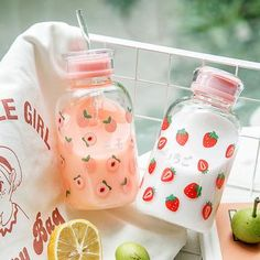 Girly Things, Cool Things To Buy, Cute Water Bottles, Drink Containers, Japanese Snacks, Japanese Candy, Kawaii Room, Cute Cups, Cute Strawberry