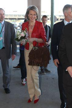 Princess Mathilde Photos - Princess Mathilde and Prince Philippe of Belgium…
