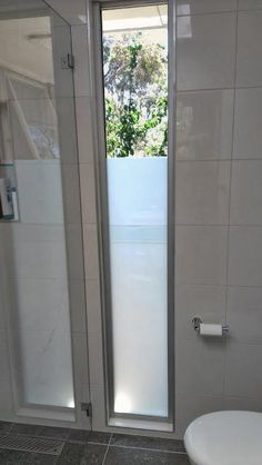I Like The Long Narrow Window With Privacy Glass For Powder Room. Shugg  Glass And