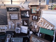 farm sign. state signs. gather sign. Display booth for signs. The barn @soffefarm