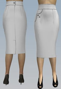 Retro One Pocket Pencil Skirt by Amber Middaugh 2015