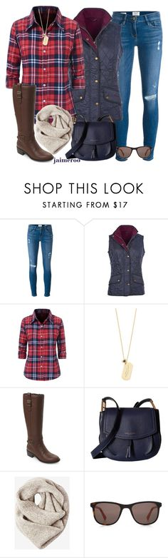 """""""Mountain Retreat"""" by jaimeroo ❤ liked on Polyvore featuring Frame, Barbour, Marc by Marc Jacobs, Cole Haan, Marc Jacobs, Toast and HOOK LDN"""