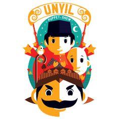 Tribute to Unyil, Pak Raden, dan Pak Ogah #Kaos #Desain #Baju #Design #TShirt…