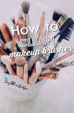 Are you wondering HOW to properly clean makeup brushes at home - the right way?  This is easy and will also work for those with the most sensitive skin.  Plus, it's the best makeup brush cleaner out there!  #makeup #makeupartist #makeupbrushes #mua #momma