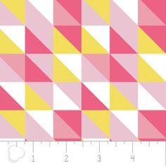Triangles in Geranium geometric fabric  Pastel Me by PhatQuarters