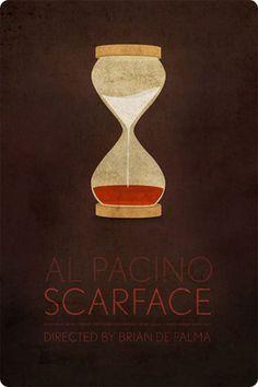 Scarface minimalist movie poster by Ibraheem Youssef New Movie Posters, Minimal Movie Posters, Minimal Poster, Movie Poster Art, Cool Posters, Film Posters, Scarface Poster, Scarface Movie, Scarface 1932