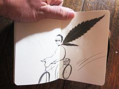 """""""...figurative sketchbook illustrations created around the forms of pressed leaves. They showed up in the Tumblr of the Sketching Backpacker who has some serious chops when it comes to documenting their travels using paint, collage, pencil, or anything else available."""""""