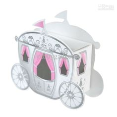 bridal shower princess favors | Enchanted Carriage Wedding Favor Boxes Fairy Tale Princess Baby Shower ...
