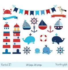 Items similar to Nautical Sailing Digital Collage Sheet Sailboat Anchor Wheel One inch Bottle Caps Digital Clipart Red White Blue Navy Tan JPG PDF Printable on Etsy Nautical Baby, Nautical Theme, Decor Photobooth, Sailing Party, Nautical Clipart, Sailor Theme, Baby Boy Shower, Baby Showers, Lighthouse