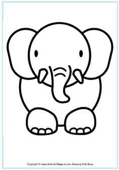 elephant coloring-good guide for how to draw