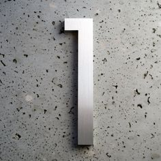 Modern House Number Aluminum Modern Font Number One by moderndwell