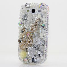 """Style 362 This Bling case can be handcrafted for Samsung Galaxy S3, S4, Note 2, Note 3. The current price is $79.95 (Enter discount code: """"facebook102"""" for an additional 10% off during checkout)"""