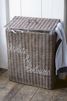 Rivièra Maison Webstore - Accessoires | Opbergartikelen | Wasmanden | RR White & Colours Laundry Basket