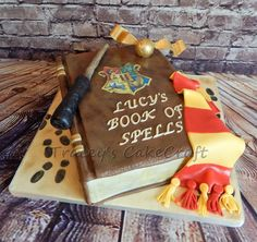 Harry Potter Spell Book cake. All edible :)