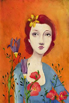 Cassandra Barney - Fleur -  LIMITED EDITION CANVAS Published by the Greenwich Workshop