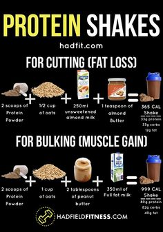 Mindset Weight Loss Pin these protein shake recipes to lose fat and gain muscle! If your goal is cutting for fat loss or bulking for muscle gain then these shakes are for you. Muscle Nutrition, Fitness Nutrition, Diet And Nutrition, Muscle Protein, Proper Nutrition, Holistic Nutrition, Complete Nutrition, Fitness Diet Plan, Subway Nutrition