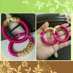Silk thread kids bangles