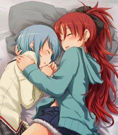 Kyoko x Sayaka my favourite lesbians