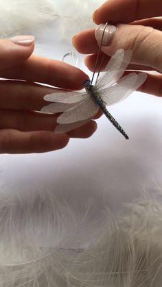 Magic Dragonfly Earrings of Pure Silk, Earrings Dragonflies, Ivory Earrings with Dragonflies, Creative Long Earrings with wings, Dragonflies Wire Jewelry, Jewelry Crafts, Handmade Jewelry, Boho Jewelry, Swarovski Jewelry, Crystal Jewelry, Jewelry Box, Butterfly Jewelry, Blue Butterfly