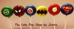 Superheroes cake pops