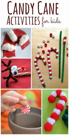 Candy Cane Activities for Kids- arts, crafts, sensory play, & even a MAGIC growing candy cane!