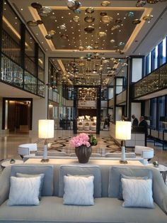 The Langham, Chicago - Lobby view, July 13, 5 p.m.  #Chicago #Hotel #NewHotel