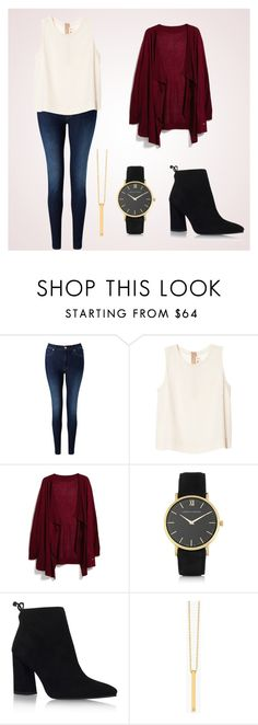 """""""Maroon and Gold"""" by glennyfranzen on Polyvore featuring 7 For All Mankind, Marni, MANGO, Larsson & Jennings, Stuart Weitzman and Gorjana"""
