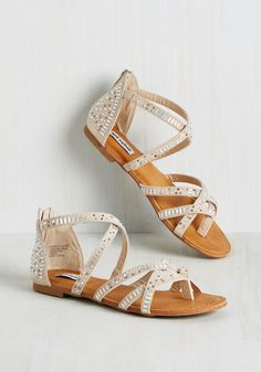 f0894dc97e292 Back in a Flashy Sandal in Champagne. Wherever you go in these strappy  sandals