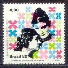 Mulheres nos selos/Mujeres en los sellos - centenário de Helen Keller