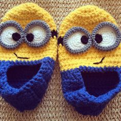 Adult Minion Slippers by WellcraftedShop on Etsy