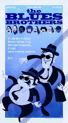 The Blues Brothers by Sam Carter / Store Cinema Posters, Concert Posters, Film Posters, Films Étrangers, Comedy Tonight, Tv, Superhero Poster, The Blues Brothers, Alternative Movie Posters