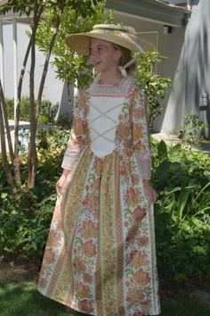 Girls-Handmade-Colonial-Dress-Size-10-Gold-and-Pink
