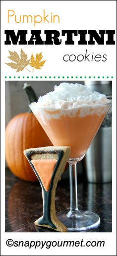 Pumpkin Martini Cookies & gift card #GIVEAWAY | snappygourmet.com